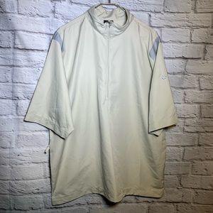 - - Nike golf XL tan 1/2 zip pullover short sleeve